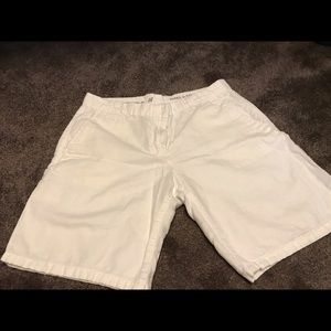 Khaki boyfriend roll-up shorts by GAP
